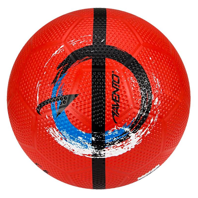 Buitenspeelgoed panna voetbal rood 21 cm maat 5 voor kinderen volwassenen