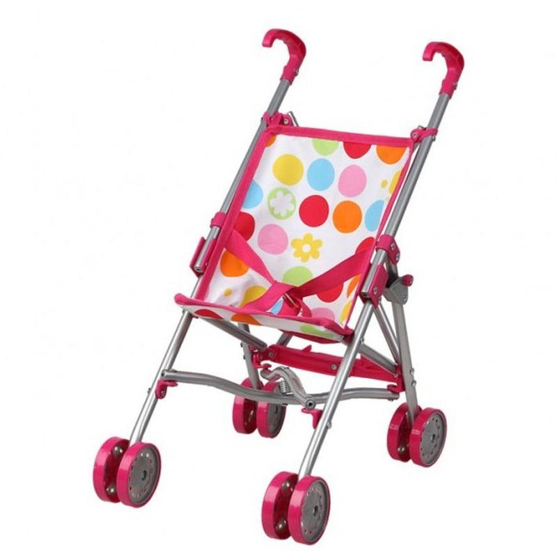 Roze poppenbuggy speelgoed voor meisjes