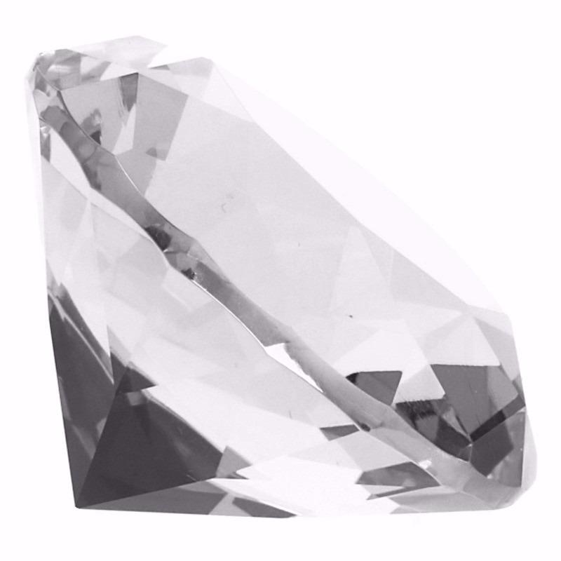 Set van 3x stuks decoratie nep doorzichtige edelstenen diamanten 6 cm