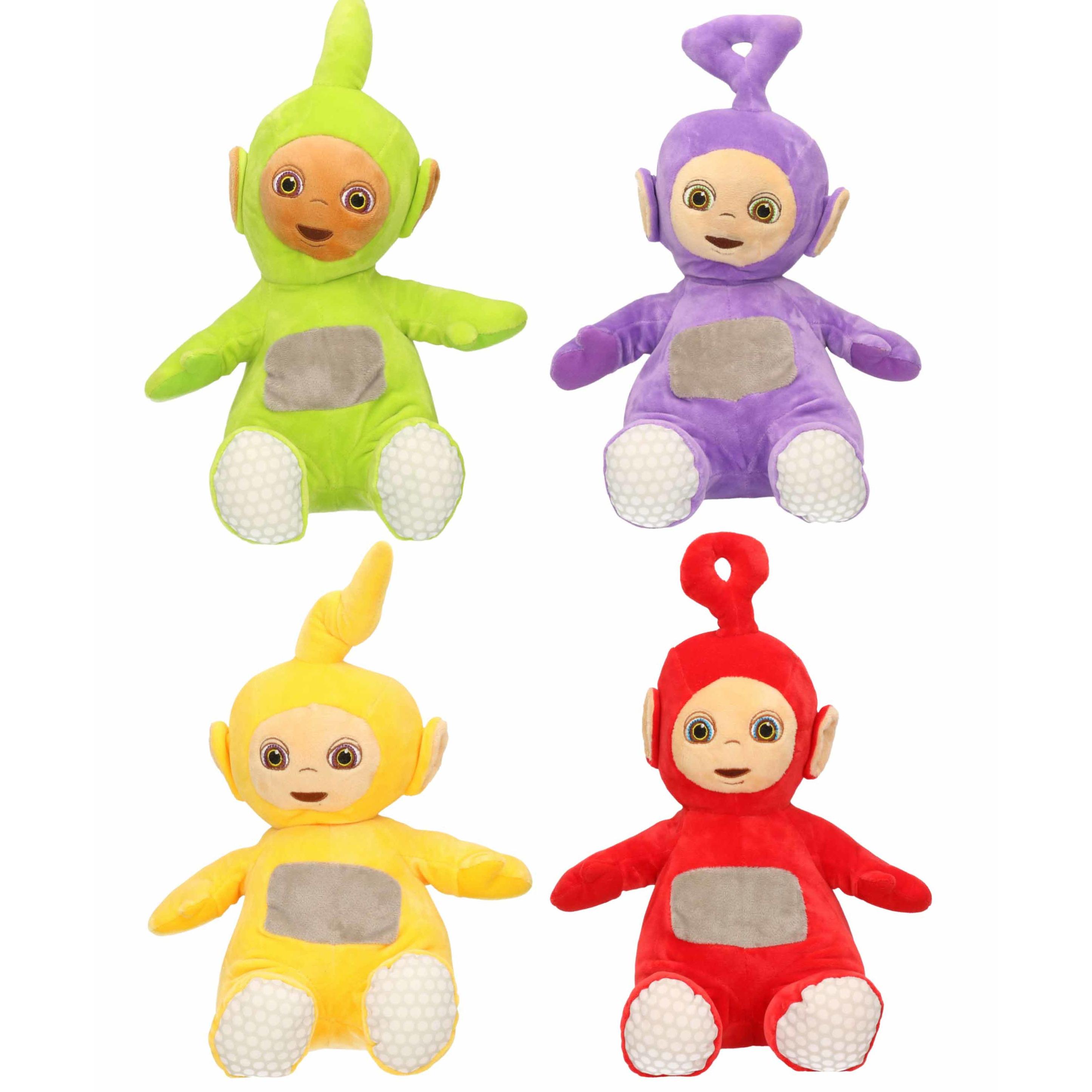 Set van 4x pluche teletubbies speelgoed knuffels tinky winky dipsy laa laa po 34 cm