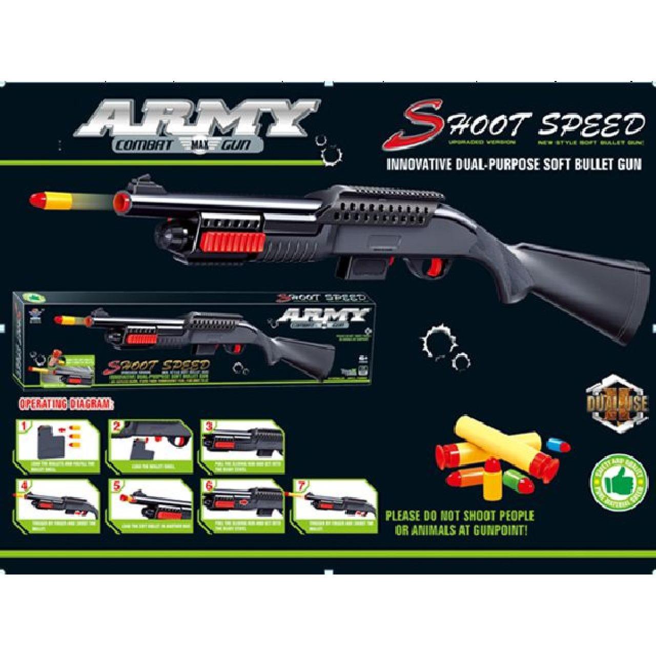Speelgoed geweer met zachte kogels soldaten politie 83 cm
