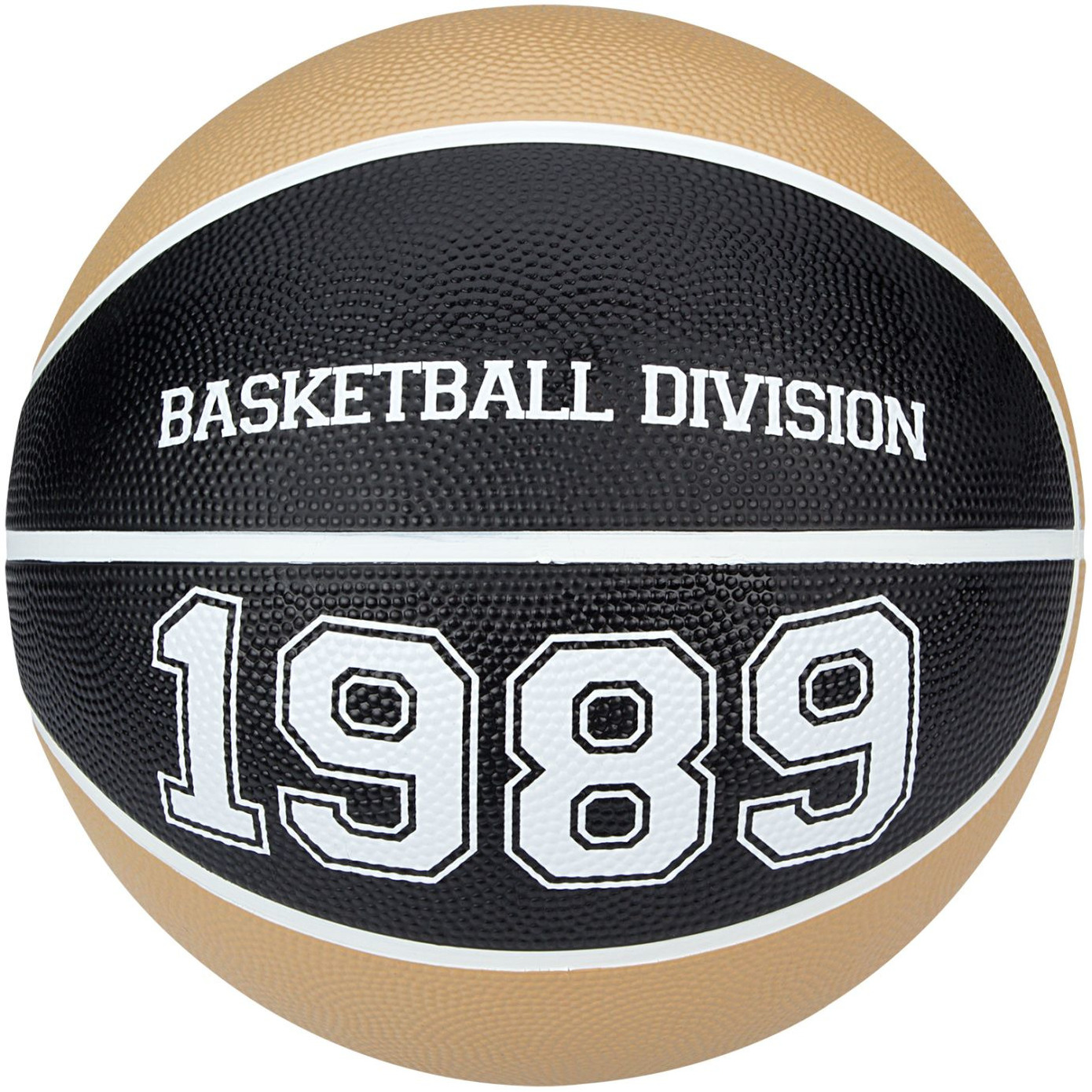 Speelgoed basketbal beige/zwart 23 cm