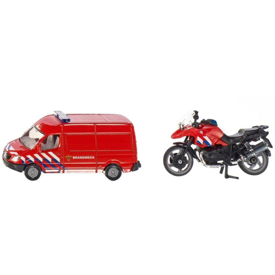 Speelgoed brandweer en motor set 20 cm