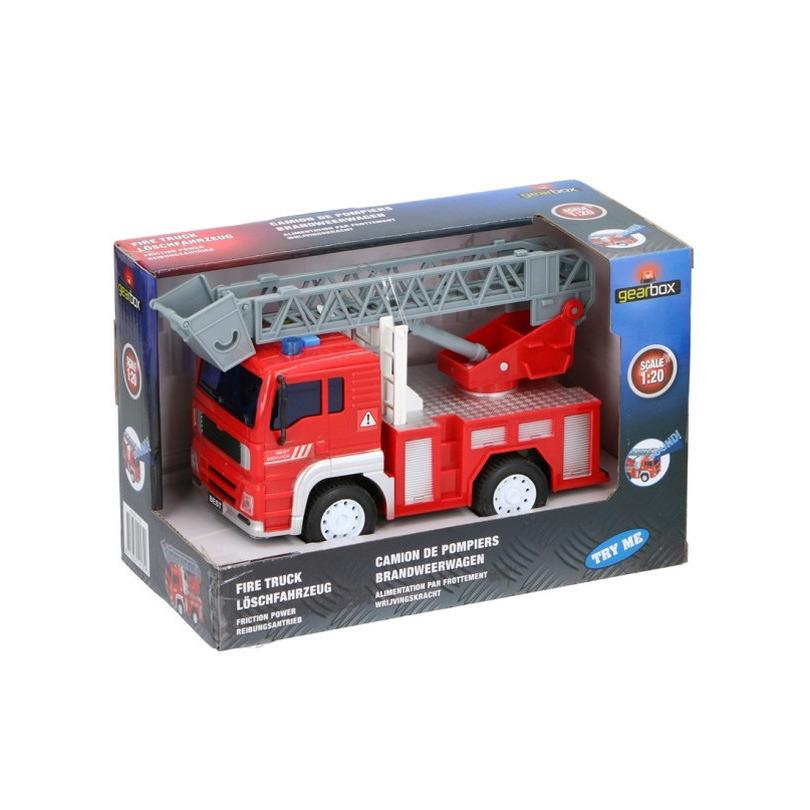 Brandweerwagen speelgoed 18 x 10 x 11 cm