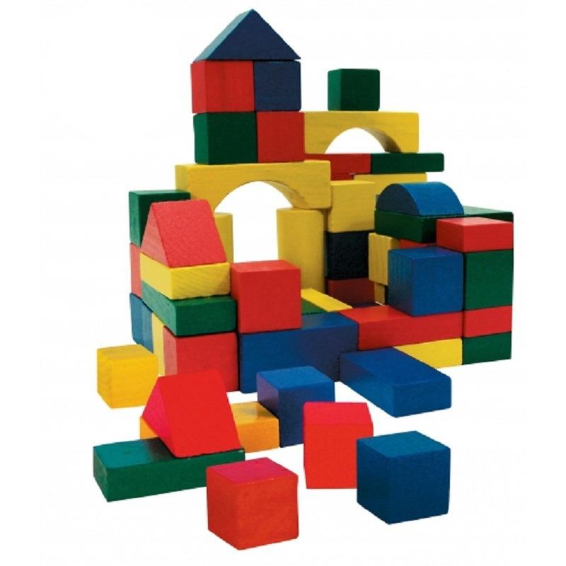 Houten speelgoed blokken 200x stuks