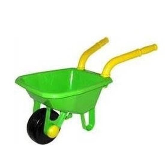 Speelgoed kruiwagen kunststof groen 25 x 66 cm