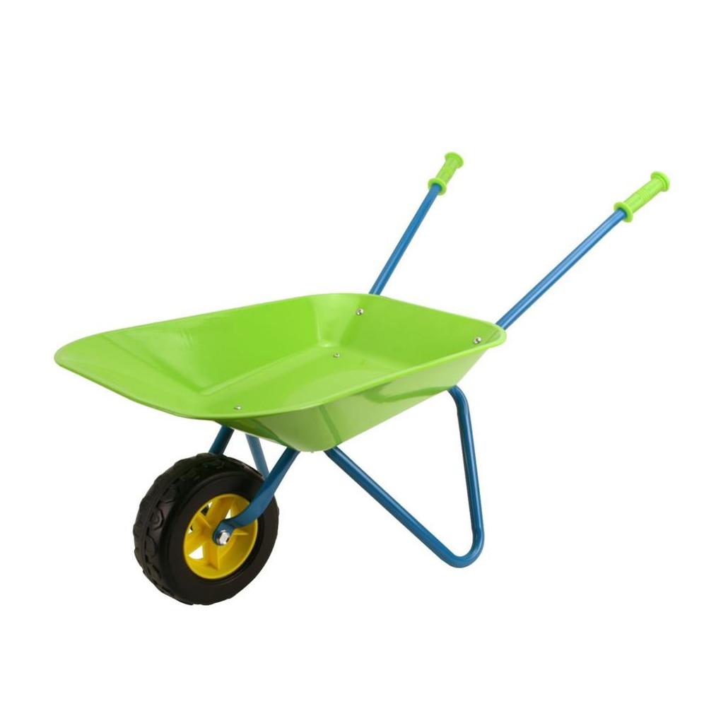 Speelgoed kruiwagen metaal groen 78 cm voor kinderen