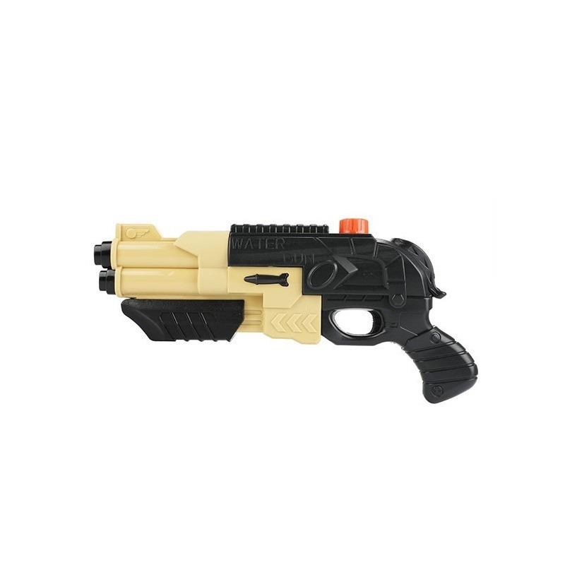 Zwart beige speelgoed leger waterpistool 42 cm