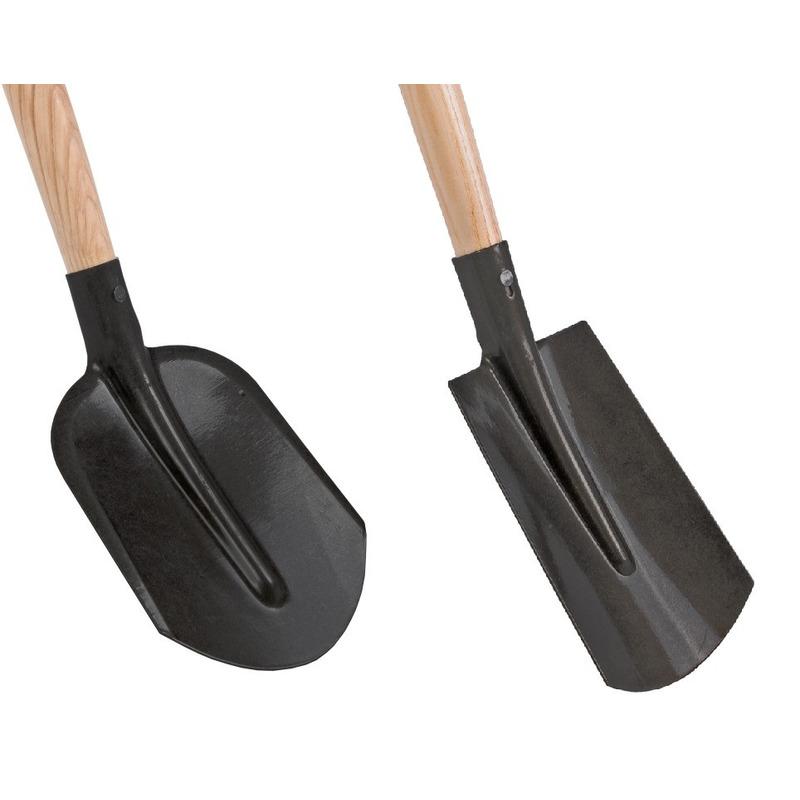 Speelgoed zandschop en spade set zwart 75 cm