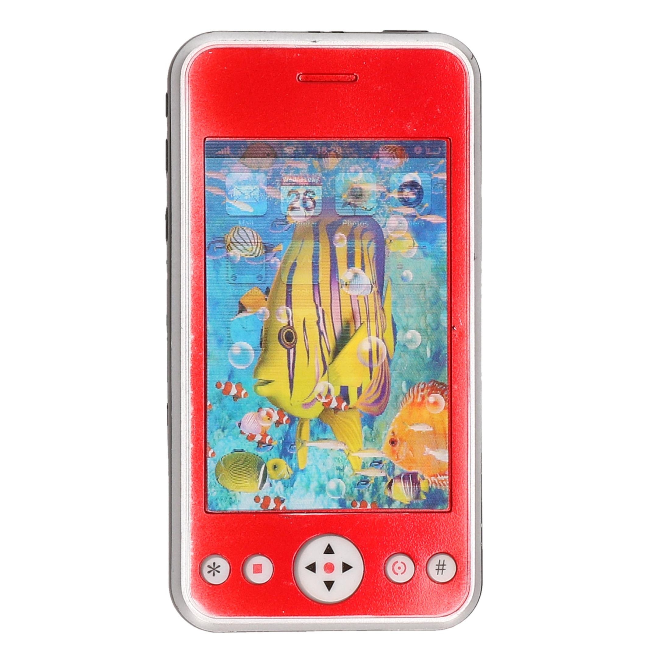 Rode speelgoed smartphone mobiele telefoon met licht en geluid 11 cm