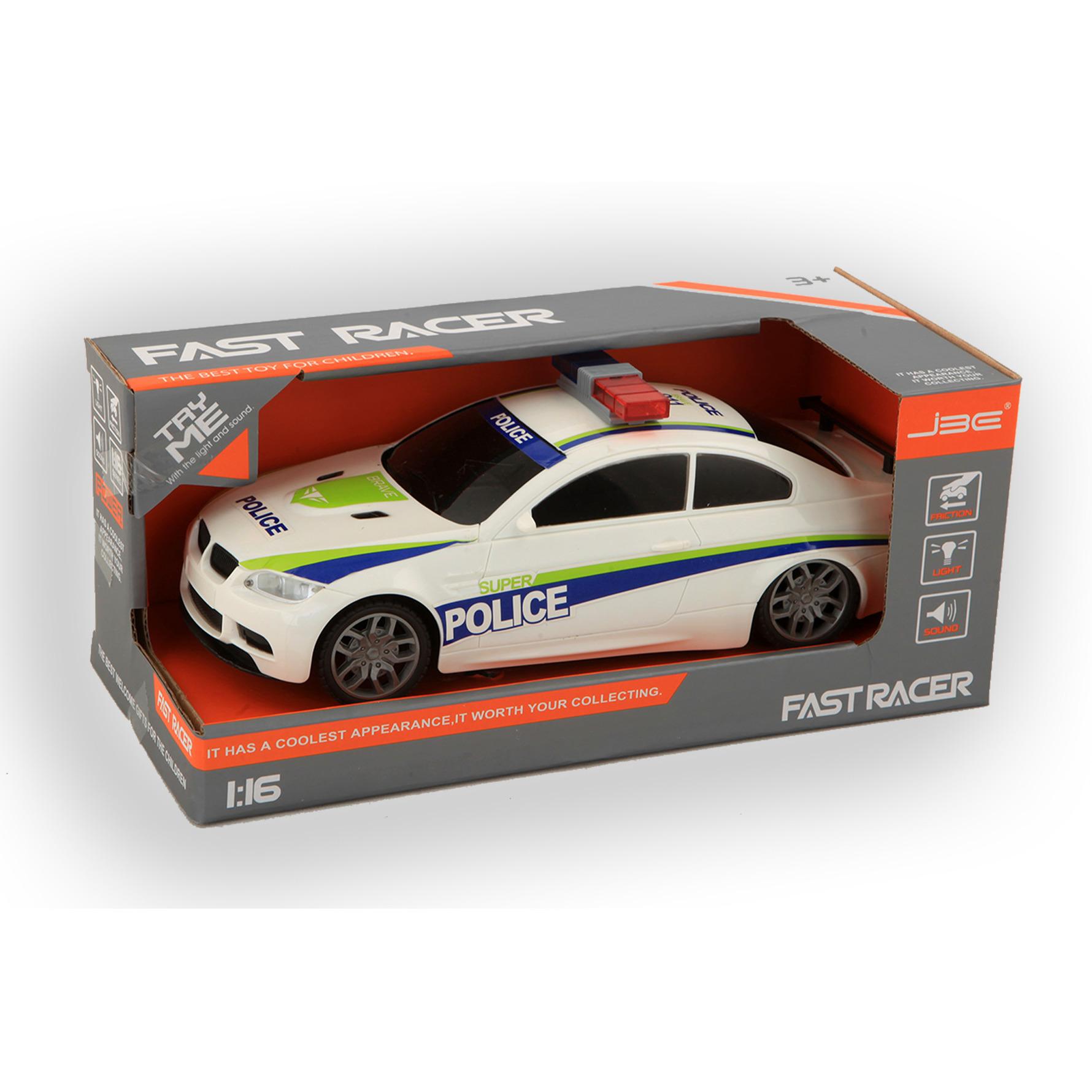 Speelgoed snelweg politie auto met licht en geluiden 24 cm