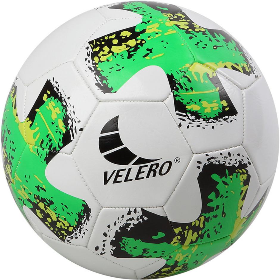 Buitenspeelgoed voetbal groen wit 23 cm maat 5