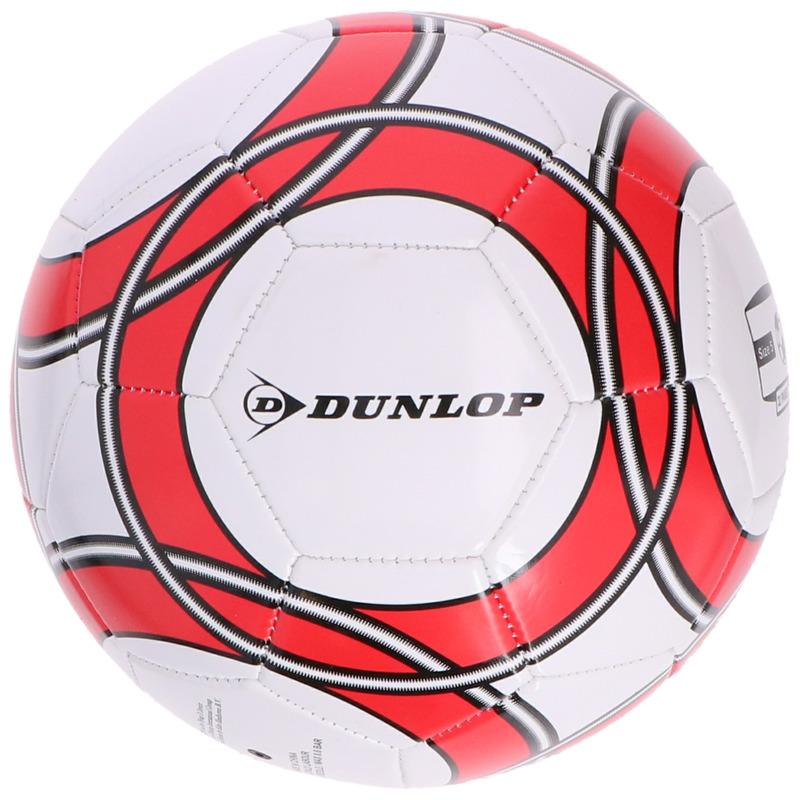 Buitenspeelgoed panna voetbal wit rood 21 cm maat 5 voor kinderen volwassenen