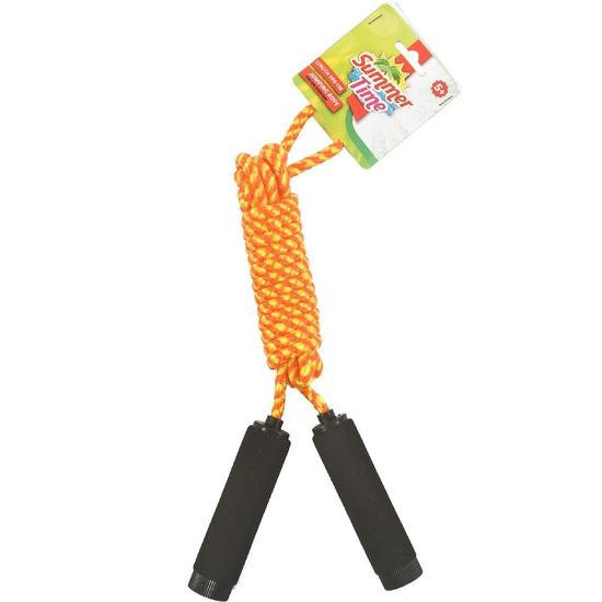 Buitenspeelgoed geel oranje springtouw 390 cm
