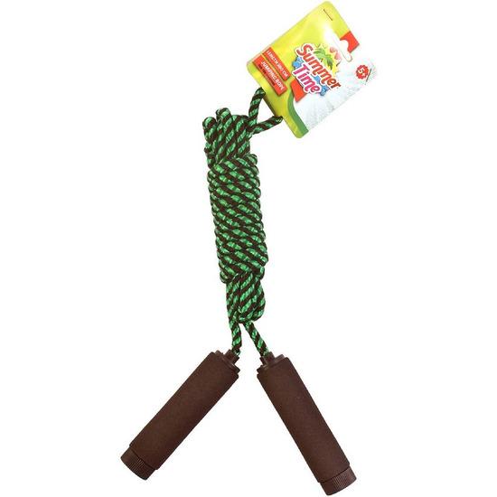 Buitenspeelgoed zwart groen springtouw 390 cm